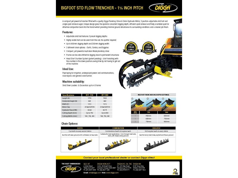digga 900 bigfoot trencher 367878 003