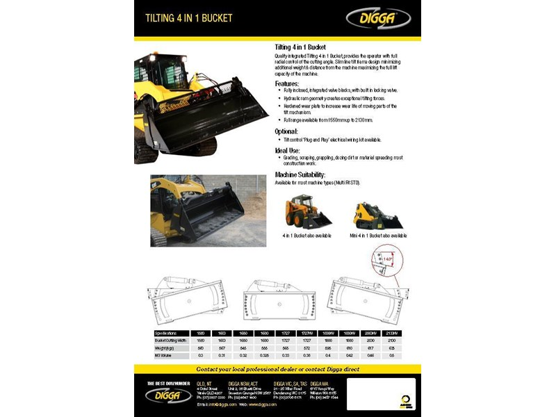 digga tilting 4 in 1 bucket 367820 002