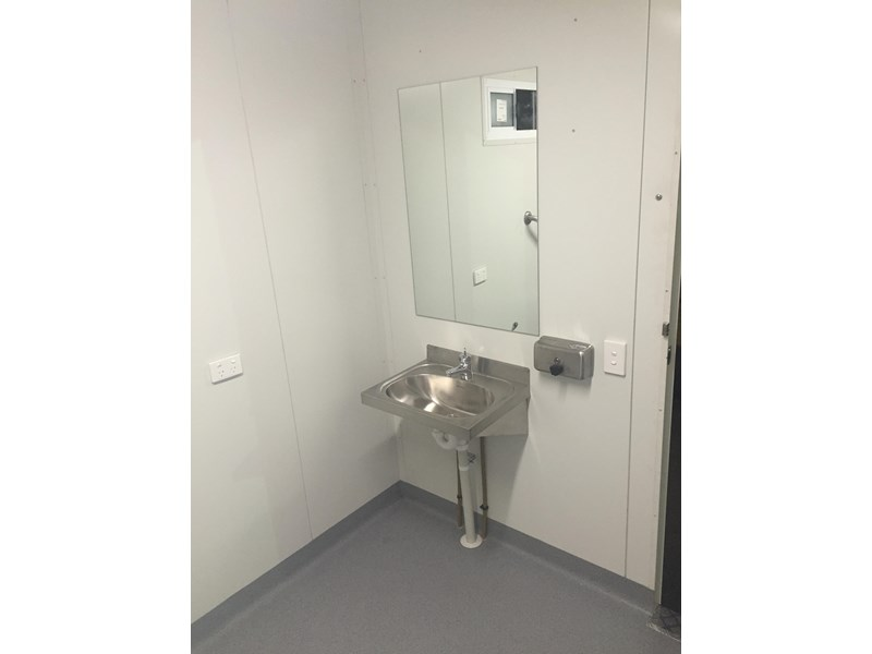 e i group portables compliant 2.4m x 2.4m disabled toilet. 144406 006