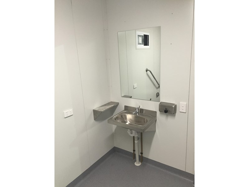e i group portables compliant 2.4m x 2.4m disabled toilet. 144406 007