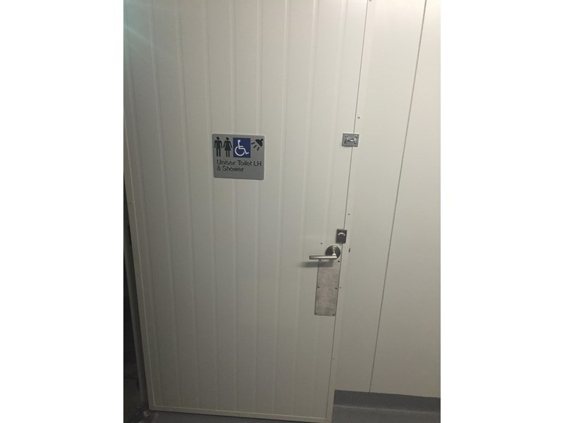 e i group portables compliant 3m x 2.4m disabled toilet/shower 368088 001