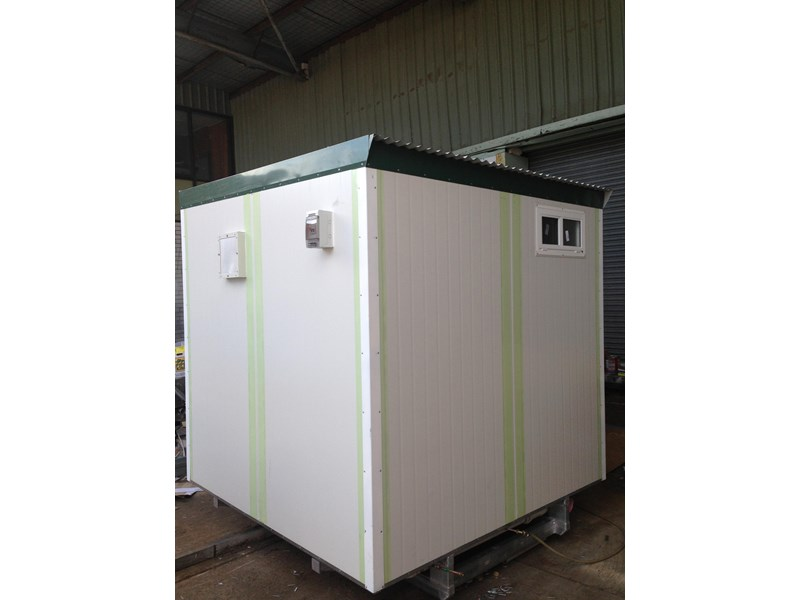 e i group portables 2.4m x 2.4m twin pan double portable building. 368112 003