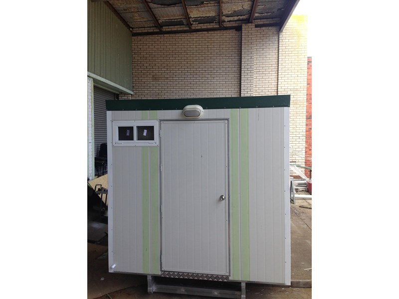 e i group portables 2.4m x 2.4m twin pan double portable building. 368112 004