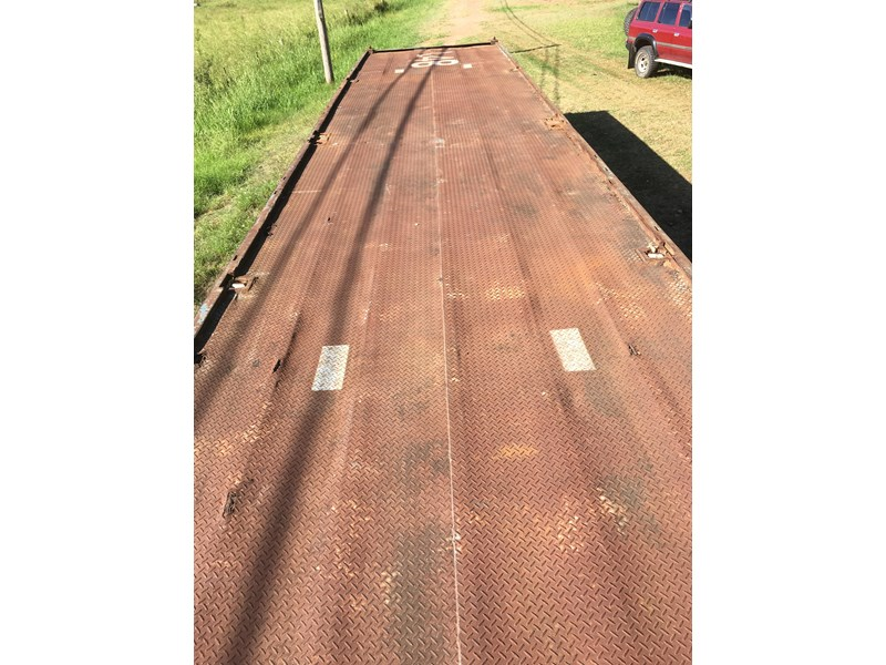 freighter 40' tri-axle flat top trailer 373918 005