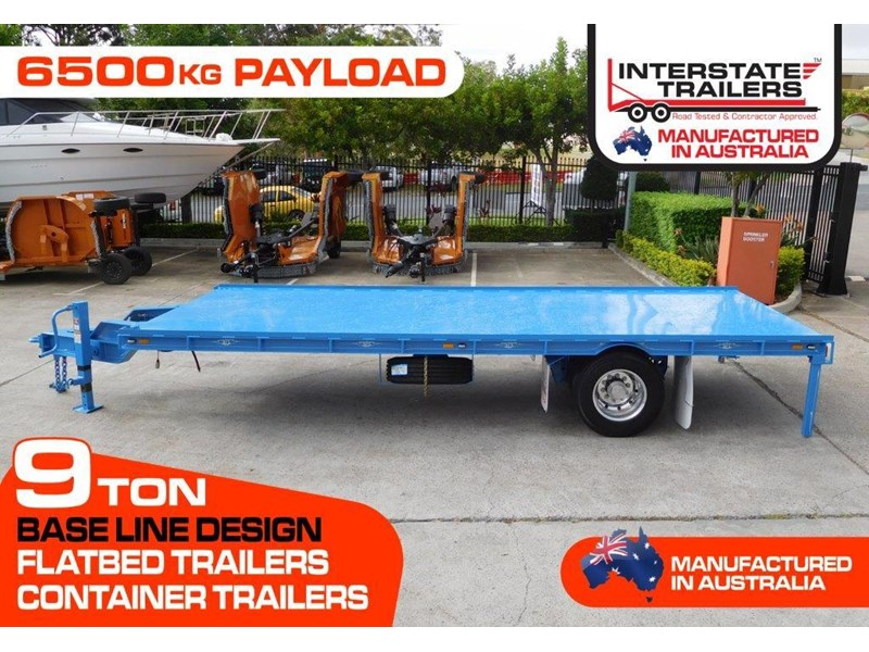 interstate trailers 9 ton heavy duty container trailers / flatbed trailers - suit 20ft container [attttrail] 374130 002