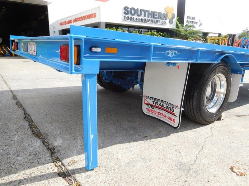 interstate trailers 9 ton heavy duty container trailers / flatbed trailers - suit 20ft container [attttrail] 374130 013