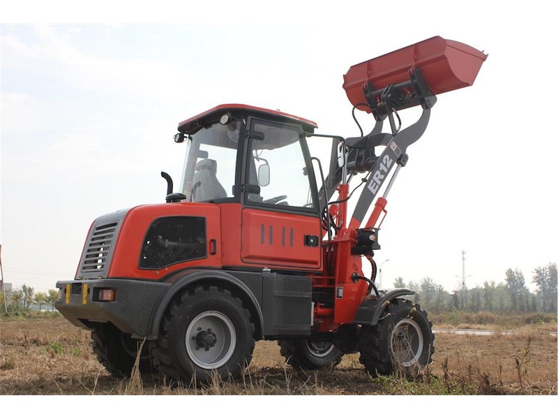 everun everun er12 wheel loader with 2 buckets and forks 374568 020