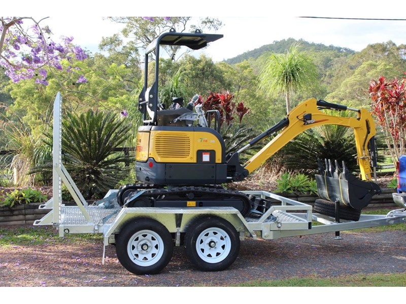 carter mini excavator ct16 yanmar powered with plan trailer 376694 002