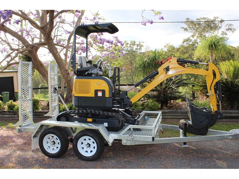 carter mini excavator ct16 yanmar powered with plan trailer 376694 004