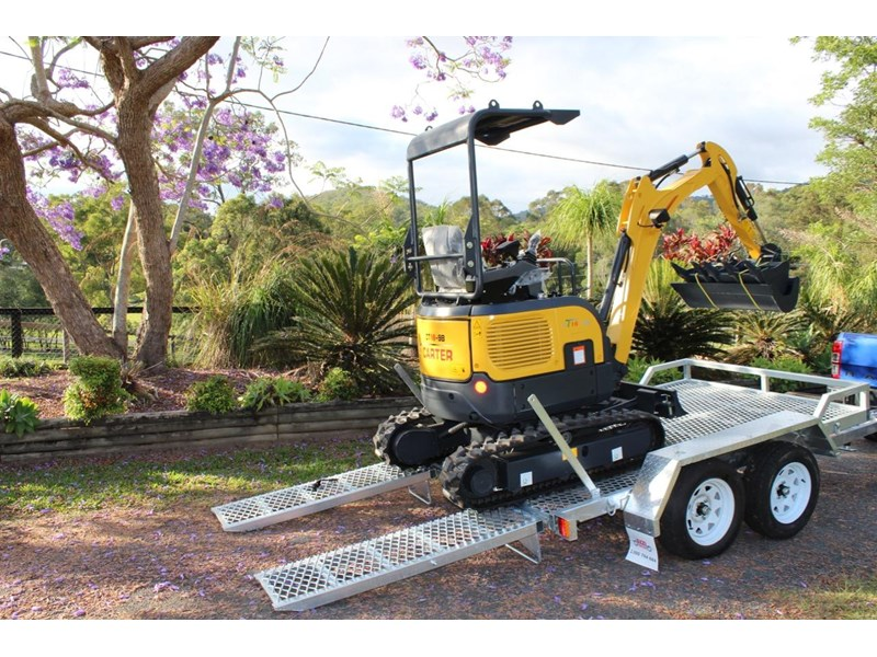 carter mini excavator ct16 yanmar powered with plan trailer 376694 007