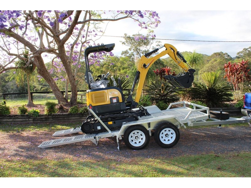 carter mini excavator ct16 yanmar powered with plan trailer 376694 010
