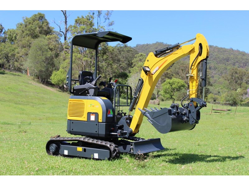 carter mini excavator ct16 yanmar powered with plan trailer 376694 025