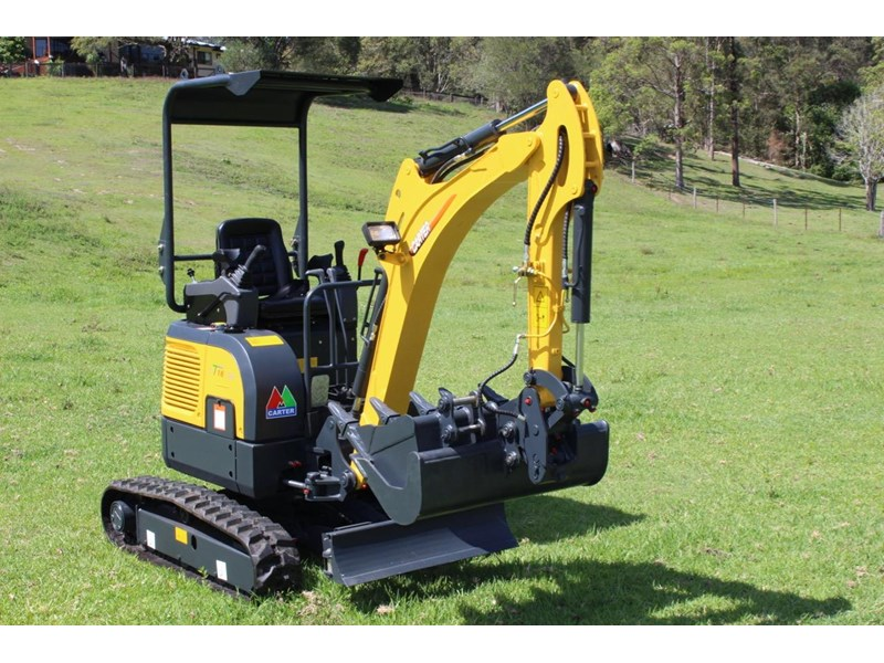 carter mini excavator ct16 yanmar powered with plan trailer 376694 026