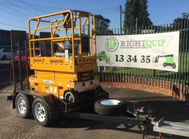 rightquip 19' scissor lift trailer 373880 006