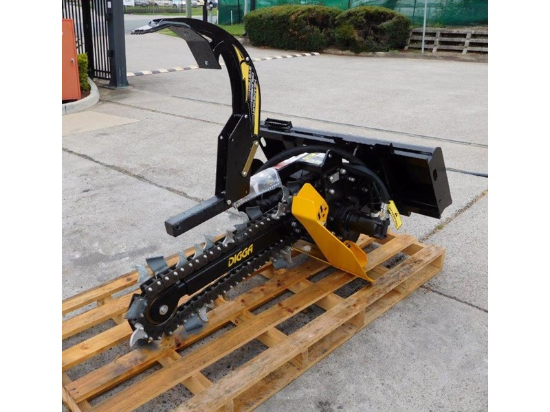 digga bigfoot 900 hydraulic trencher - 900mm dig depth suit skid steer loaders.[atttren] 384563 010