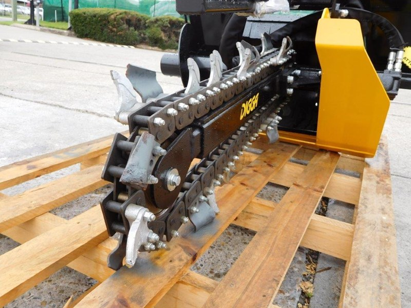 digga bigfoot 900 hydraulic trencher - 900mm dig depth suit skid steer loaders.[atttren] 384563 011