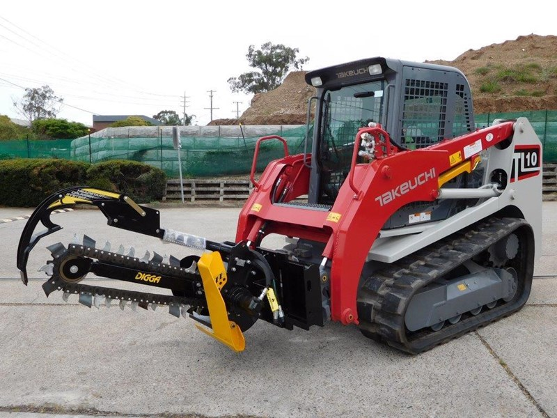 digga bigfoot 900 hydraulic trencher - 900mm dig depth suit skid steer loaders.[atttren] 384563 017