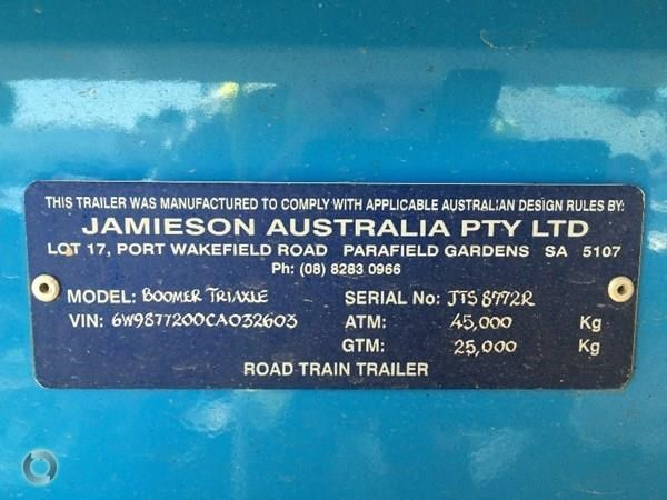 jamieson 30' x 4' steel chassis tipper 385240 012