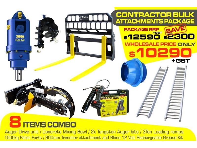 [special deal] ramps - contractors bulk attachments package [8 items] [attcombo] 237135 002