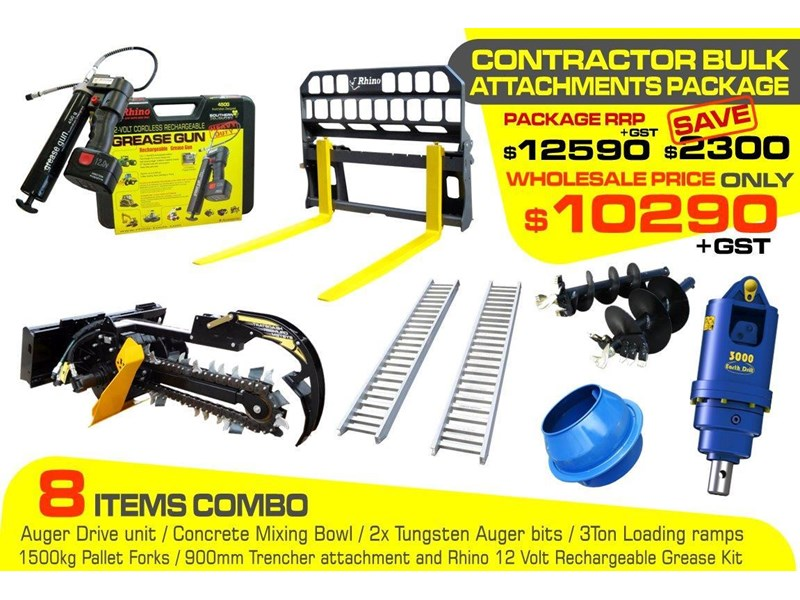heavy duty [special deal] trencher - contractors bulk attachments package [8 items] [attcombo] 237132 002