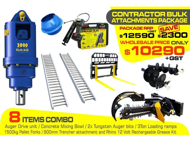 other auger drive unit - contractors bulk attachments package [8 items] [attcombo] 237145 001