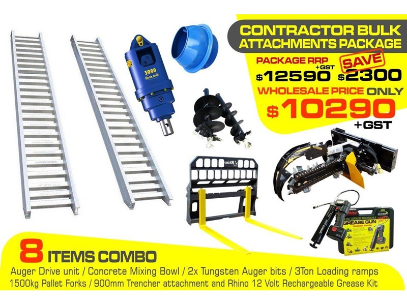 other auger drive unit - contractors bulk attachments package [8 items] [attcombo] 237145 002