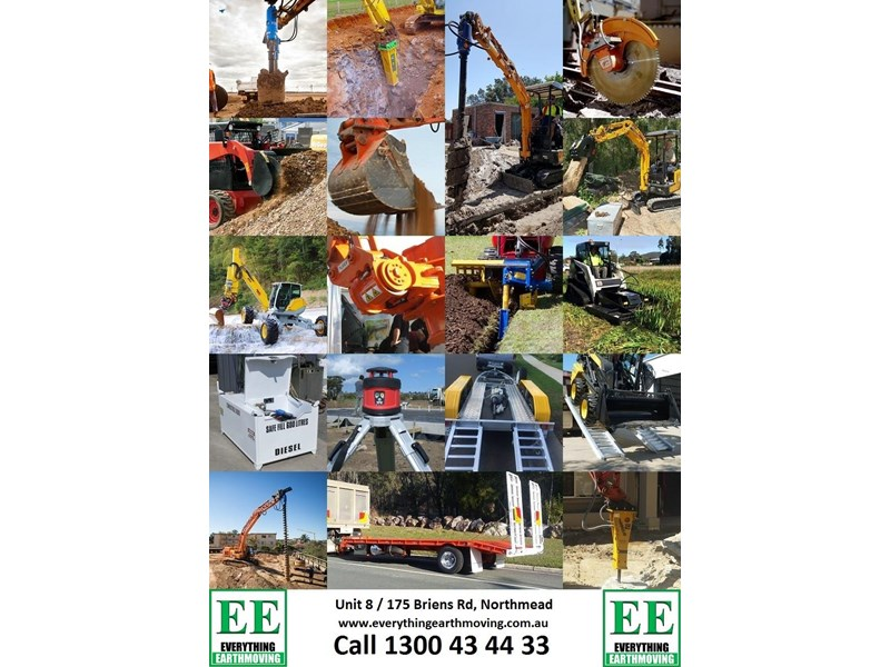 everything earthmoving trailer to suit 3-4 combo or single machine to 8 tonnes brand new 356963 051