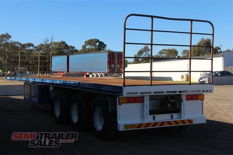 maxitrans 45ft flat top semi trailer with 3 way pins 393338 015