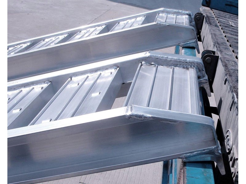 rhino 1800.kg aluminium loading ramps - kanga / dingo / bobcat / skid steer loading ramps[attramp] 394522 010