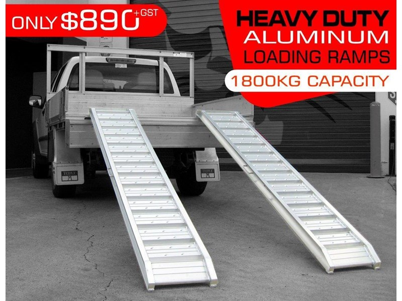 digga 1800.kg aluminium loading ramps - kanga / dingo / bobcat / skid steer loading ramps [attramp] 394534 002