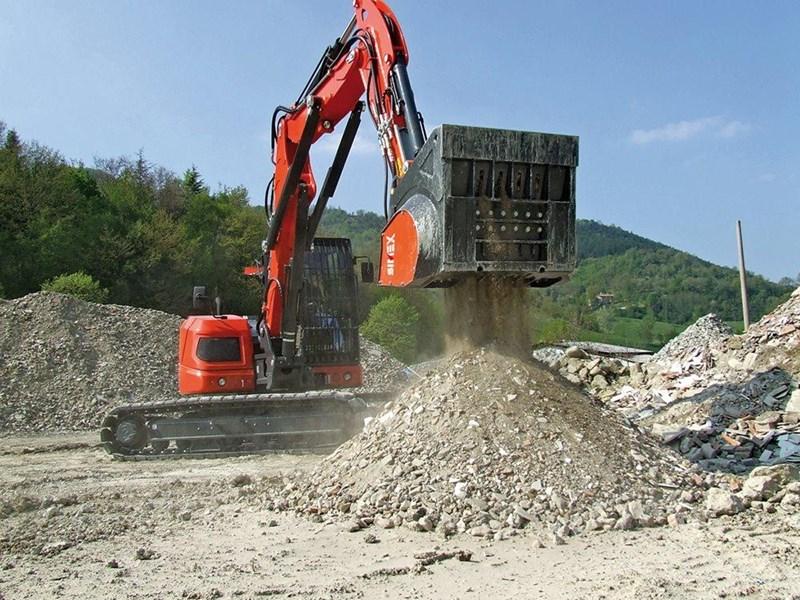 Excavator Rock Bucket : Simex cbe excavator crusher buckets for sale