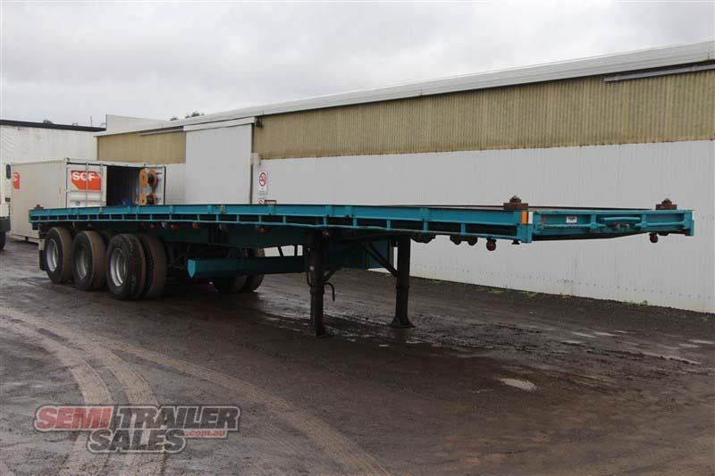 consultrans 40ft 8 inch flat top semi trailer with 3 way pins 394626 002