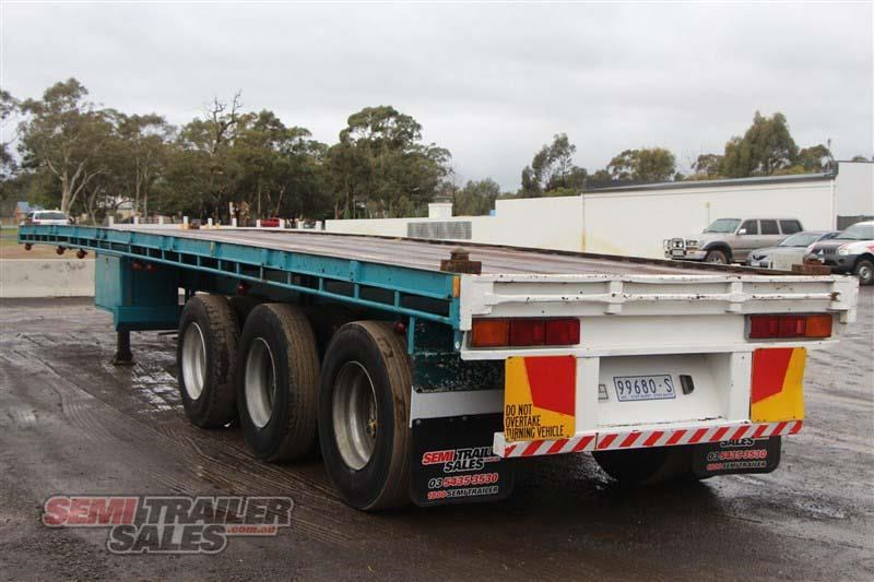 consultrans 40ft 8 inch flat top semi trailer with 3 way pins 394626 014