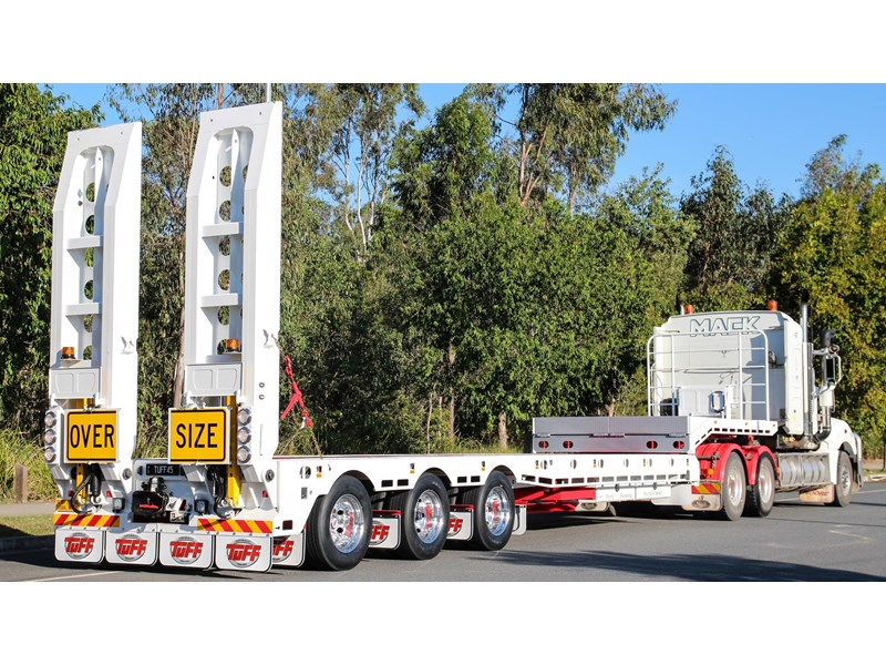 tuff trailers 3x4 or 4x4 drop deck/ low loader / deck widening float / 4.5m ag widening trailer 398283 004