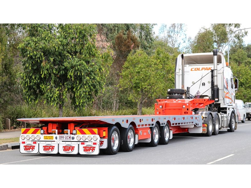 tuff trailers 3x4 or 4x4 drop deck / fixed width or deck widening / tilt 'n' slide - super tilt 398286 015