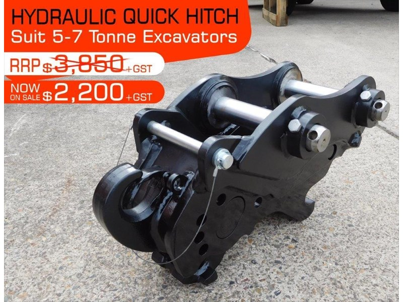 various heavy duty hydraulic quick hitches suits 5 to 7t kubota excavators 398980 001