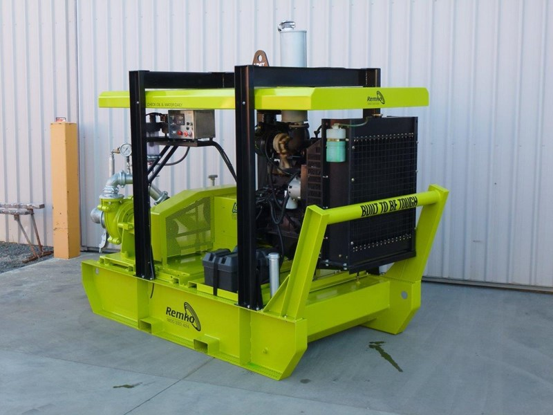 remko heavy duty diesel driven sand/sludge/slurry pump package 408395 020