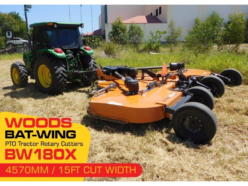 woods equipment pto tractor rotary cutters [cut width 4571mm / 15ft ] woods bw180x  [attpto] 331912 002