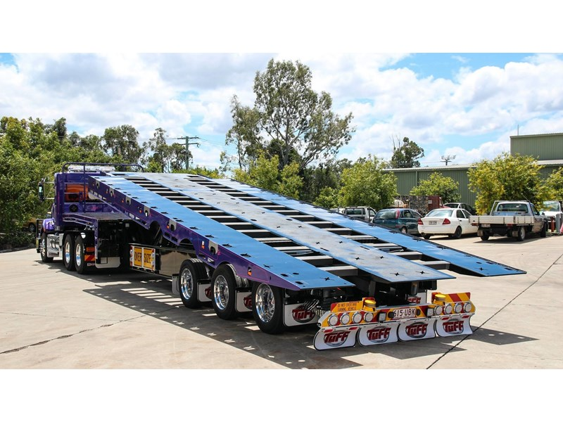 tuff trailers 3x4 or 4x4 drop deck / fixed width or deck widening / tilt 'n' slide - super tilt 398286 006