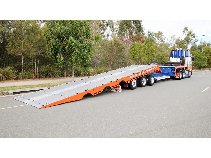 tuff trailers 3x4 or 4x4 drop deck / fixed width or deck widening / tilt 'n' slide - super tilt 398286 008