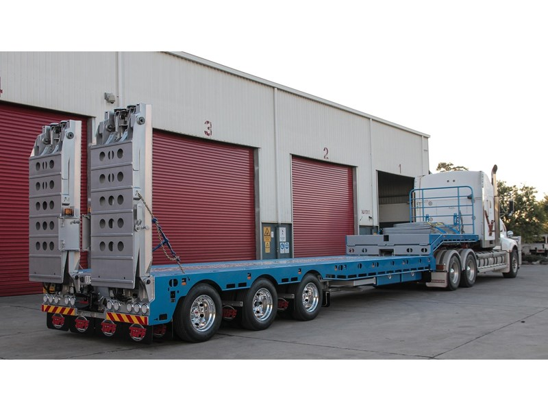 tuff trailers 3x4 or 4x4 drop deck/ low loader / deck widening float / 4.5m ag widening trailer 398283 007