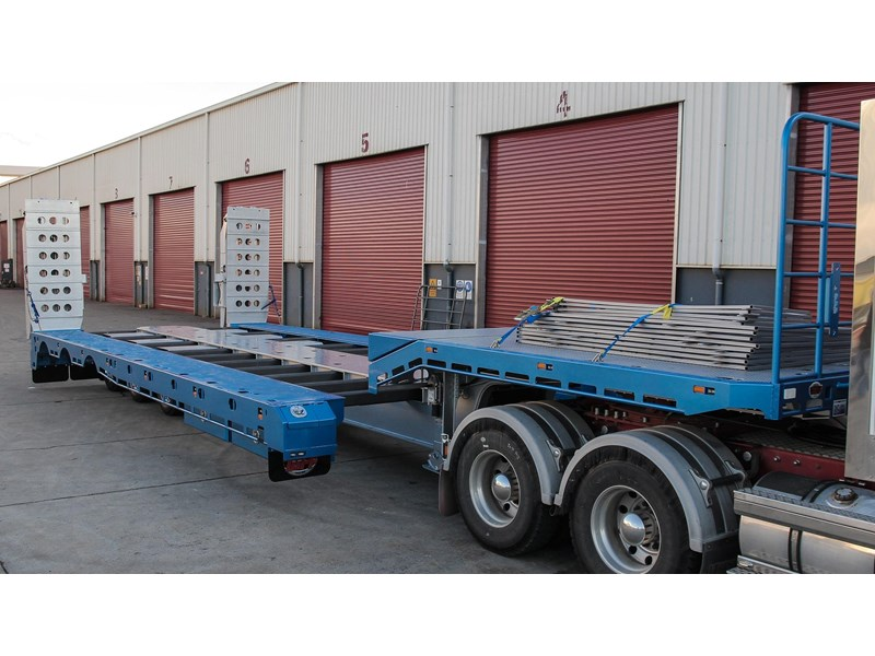 tuff trailers 3x4 or 4x4 drop deck/ low loader / deck widening float / 4.5m ag widening trailer 398283 010