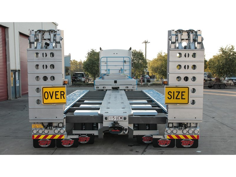 tuff trailers 3x4 or 4x4 drop deck/ low loader / deck widening float / 4.5m ag widening trailer 398283 001