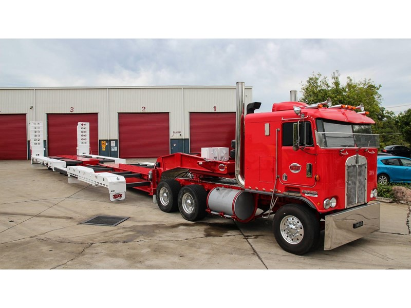tuff trailers 3x4 or 4x4 drop deck/ low loader / deck widening float / 4.5m ag widening trailer 398283 012