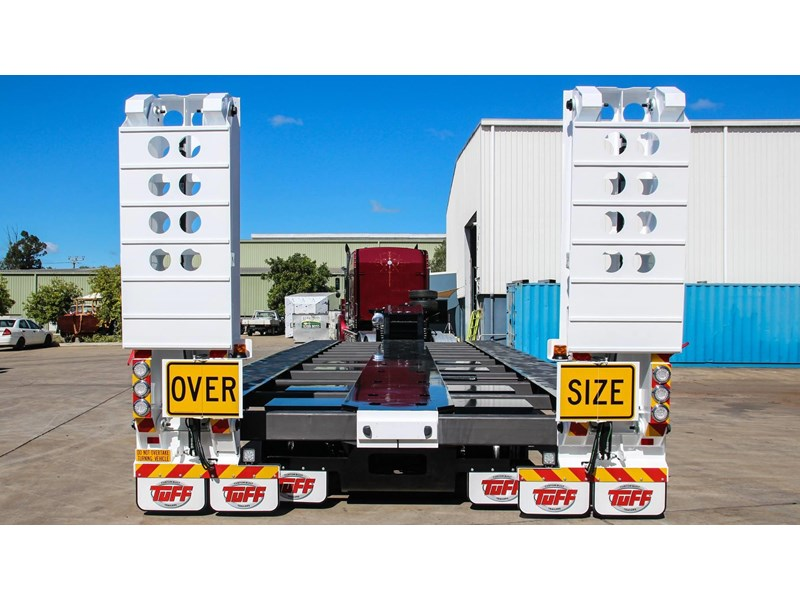 tuff trailers 3x4 or 4x4 drop deck/ low loader / deck widening float / 4.5m ag widening trailer 398283 008