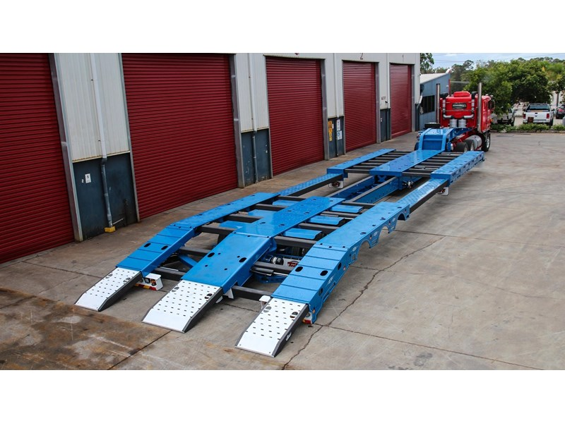 tuff trailers 3x4 or 4x4 drop deck/ low loader / deck widening float / 4.5m ag widening trailer 398283 002
