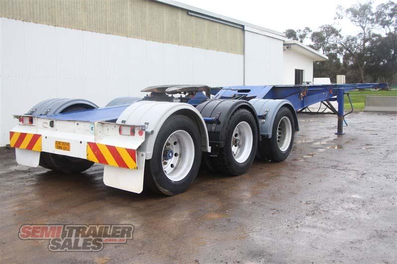 barker 20ft skel semi a trailer with 2 way pins 411545 003