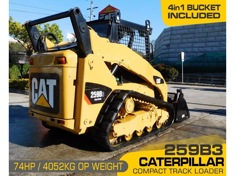 caterpillar #2235b 259.b3 cat 259b.3 compact track loader [74 hp] [only 295 hours] [machcat] 414016 002