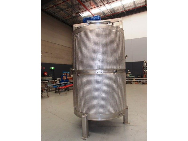 stainless steel jacketed mixing tank 5,000lt 415053 001