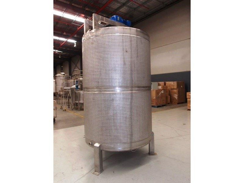 stainless steel jacketed mixing tank 5,000lt 415053 002